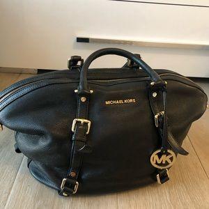 Michael Kors black leather medium satchel